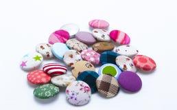 Colori dei bottoni del tessuto Fotografia Stock