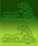 Colori del camaleonte di Stylization Fotografie Stock Libere da Diritti