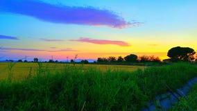 Colori del cielo Fotografie Stock