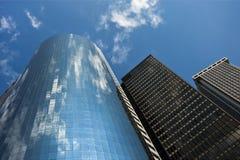 Colori del cielo a Manhattan con i grattacieli giganti, New York Fotografie Stock Libere da Diritti