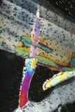 Colori del cristallo di ghiaccio Immagini Stock