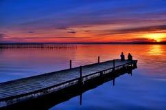 Colori del lago Fotografia Stock