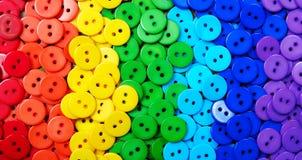 Colori del Rainbow Modello del fondo multicolore di struttura dei bottoni Fotografia Stock Libera da Diritti