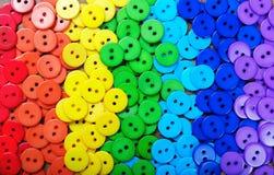 Colori del Rainbow Modello del fondo multicolore di struttura dei bottoni Fotografia Stock