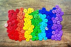 Colori del Rainbow Modello del fondo multicolore di struttura dei bottoni Tavolozza dei colori dell'arcobaleno Immagini Stock Libere da Diritti