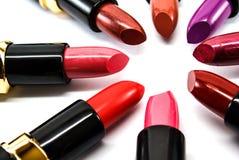 Colori del rossetto Fotografia Stock