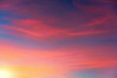 Colori del tramonto fotografia stock libera da diritti
