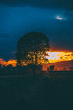 Colori del tramonto immagini stock