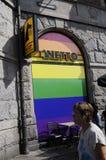 Colori dell'arcobaleno dei tunrs della drogheria di Netto Immagine Stock Libera da Diritti