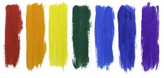 Colori dell'arcobaleno della pittura acrilica immagine stock libera da diritti