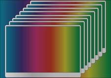 Colori dell'arcobaleno di astrazione illustrazione di stock