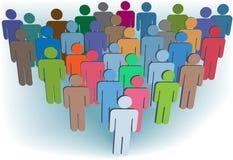 Colori della gente di simbolo dell'azienda o della popolazione del gruppo Immagine Stock Libera da Diritti
