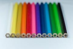 Colori delle matite di coloritura Fotografia Stock Libera da Diritti