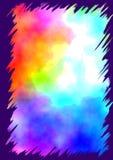 Colori di acqua con il bordo dentellato illustrazione vettoriale