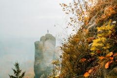 Colori di autunno nelle montagne dell'arenaria di Elba Immagini Stock Libere da Diritti