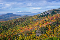 Colori di autunno, Ridge Parkway blu, Nord Carolina Immagini Stock Libere da Diritti