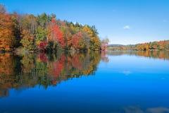 Colori di caduta riflessi sul lago Immagine Stock Libera da Diritti