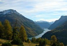 Colori di caduta vicino a Val Livigno, Italia Fotografie Stock