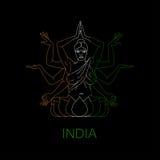 Colori di Kali della dea Fotografie Stock Libere da Diritti