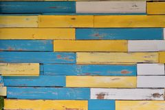 Colori di legno di struttura Fotografie Stock Libere da Diritti