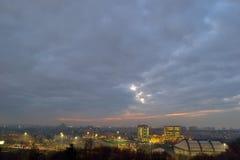 Colori di luci della città Fotografia Stock