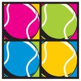 Colori di Tennisballs. Immagini Stock Libere da Diritti