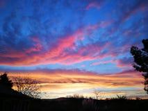 Colori di tramonto Fotografie Stock