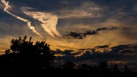 Colori di tramonto Fotografia Stock