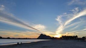 Colori di tramonto su Isla de la Piedra Immagine Stock