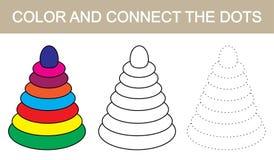 Colori e colleghi l'immagine dei punti della piramide dei children's Vettore royalty illustrazione gratis