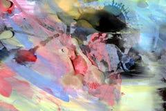 Colori e contrasti cerei pastelli, fondo variopinto Fotografia Stock Libera da Diritti