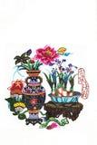Colori i fiori graziosi di taglio di carta Fotografie Stock