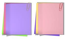 Colori i fogli di carta per il record 01 Fotografie Stock