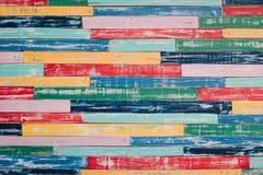Colori il fondo astratto di legno di struttura Fotografia Stock