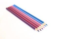 Colori il gamm di freddo dei pensils Immagine Stock Libera da Diritti