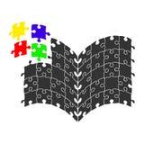 Colori il logo per la vostra progettazione, il vettore di riserva IL di affari del libro di puzzle Fotografia Stock