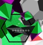 Colori il manifesto geometrico della composizione 3d Fotografia Stock