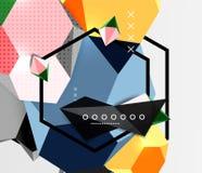 Colori il manifesto geometrico della composizione 3d Immagine Stock
