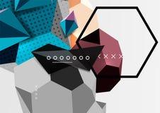 Colori il manifesto geometrico della composizione 3d Immagini Stock Libere da Diritti
