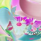 Colori il reticolo floreale Fotografia Stock