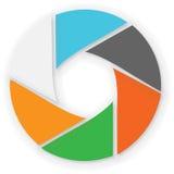 Colori infographic del cerchio Fotografia Stock Libera da Diritti