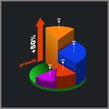 Colori intorno al diagramma isometrico, grafico di informazioni royalty illustrazione gratis