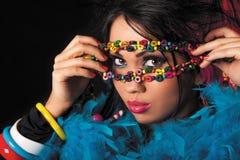 Colori jipsy del bello latino Fotografia Stock