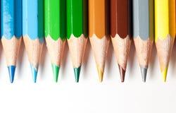 Colori l'estratto delle matite Fotografia Stock Libera da Diritti
