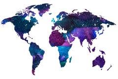 Colori l'immagine gradiented dell'acquerello del pianeta isolato della terra royalty illustrazione gratis
