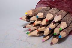 Colori la matita Fotografie Stock