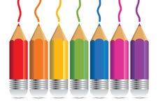 Colori la matita Fotografia Stock