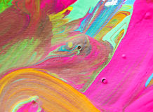 Colori la pittura sulle arti di carta di struttura dell'estratto del fondo Immagini Stock Libere da Diritti