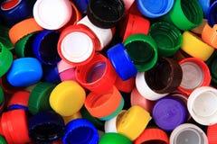 Colori la priorità bassa delle protezioni della plastica Fotografie Stock Libere da Diritti