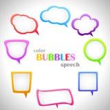 Colori le bolle di discorso Fotografia Stock